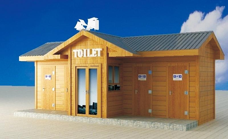 防腐木旅游景区环保移动厕所