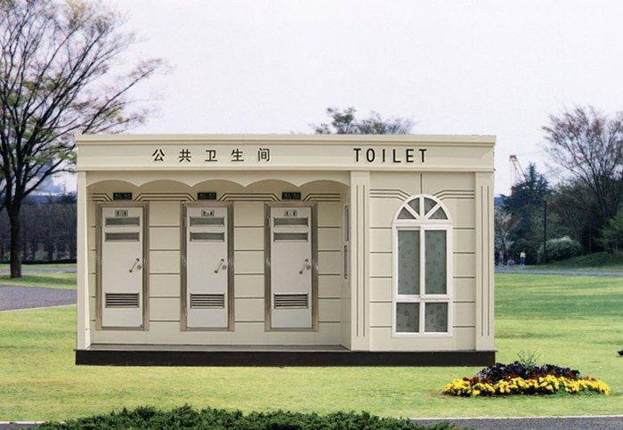 欧式风格城市环保厕所